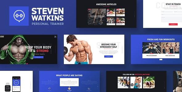 Steven Watkins | Personal Gym Trainer & Nutrition Coach WordPress Theme - Health & Beauty Retail