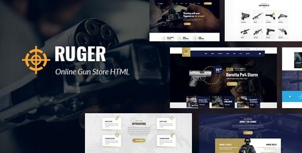 Ruger - Guns Store HTML5 Template - Retail Site Templates