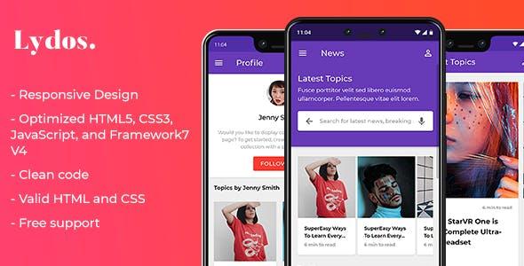 Free Templates Phonegap HTML Mobile Website Templates