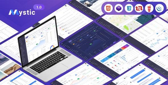 Mystic - Multipurpose PSD Admin Dashboard Template - PSD Templates