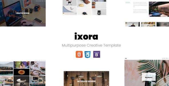 ixora - MultiPurpose Creative Template - Creative Site Templates