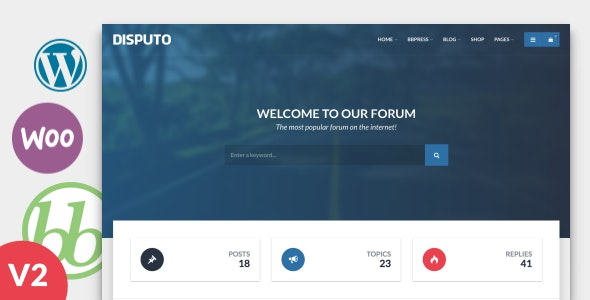 Disputo - WordPress bbPress Forum Theme by egemenerd