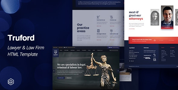 Truford - Lawyer, Law Firm, Attorney Business HTML Template - Business Corporate