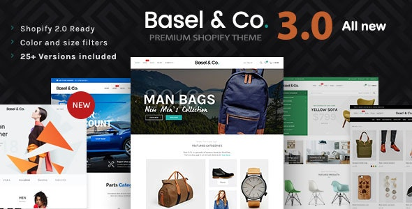 Basel - Multipurpose Ecommerce Shopify Theme by Jthemes | ThemeForest