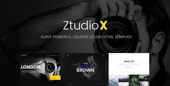Ztudio X - Creative Studio Photography HTML Template - Creative Site Templates