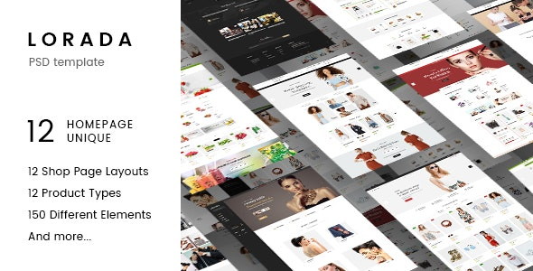 Lorada - Multipurpose eCommerce PSD Template - Retail PSD Templates