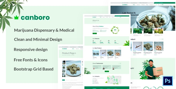 Canboro - Medical Marijuana Dispensary PSD Template - Health & Beauty Retail