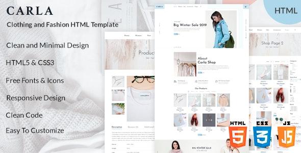 Carla - Clothing and Fashion HTML Template - Fashion Retail