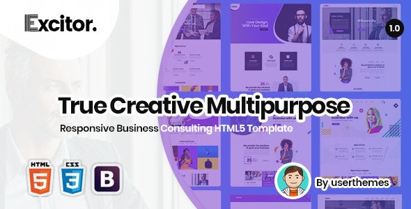 Excitor | Responsive Business Consulting HTML5 Template - Business Corporate
