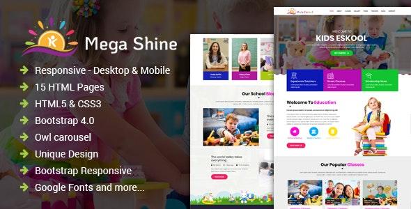 MegaShine- Education Primary School HTML Template - Business Corporate