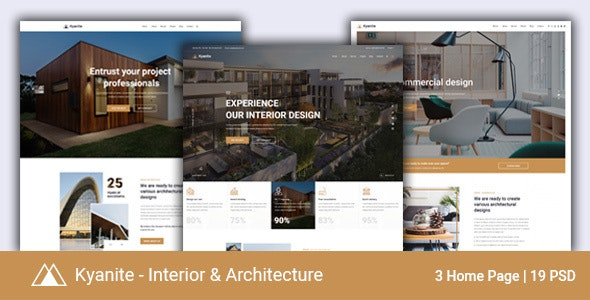 Kyanite - Interior Design & Architecture PSD Template - Business Corporate