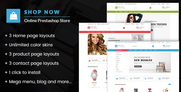 Shop Now - All in one package Prestashop theme - Shopping PrestaShop