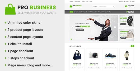 Pro Business - Multipurpose Prestashop Theme - PrestaShop eCommerce