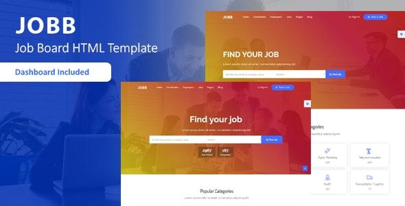 JOBB - Job Board HTML Template - Business Corporate