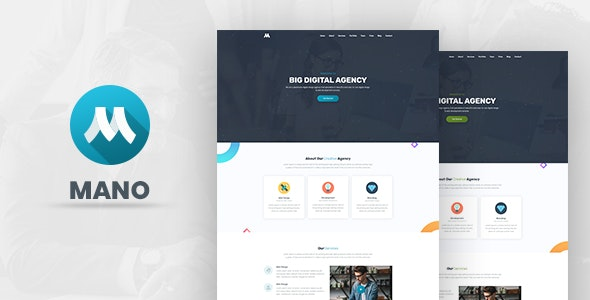 Mano - One Page Parallax - Creative Site Templates