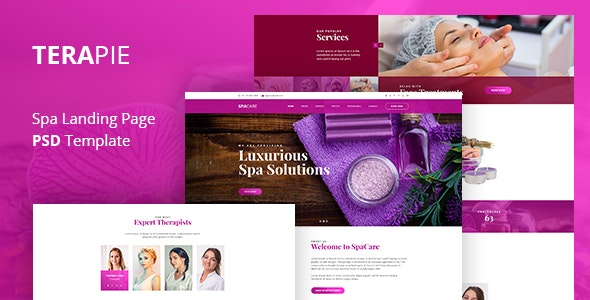 TERAPIE - Spa & Theraphy PSD Template - Photoshop UI Templates