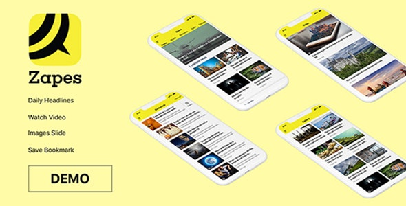 Zapes - News and Blog UI kit - Sketch UI Templates