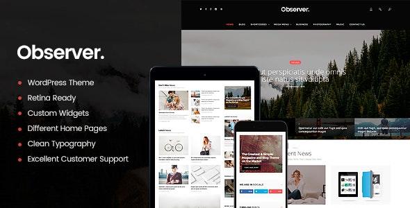Daily Observer - A Modern Magazine & News Portal WordPress Theme - News / Editorial Blog / Magazine