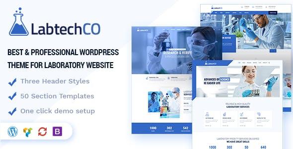 LabtechCO   Laboratory & Research WordPress Theme
