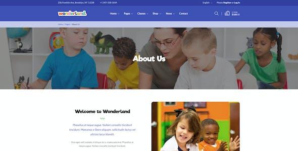 Wonderland - Kindergarten & Preschool PSD Template