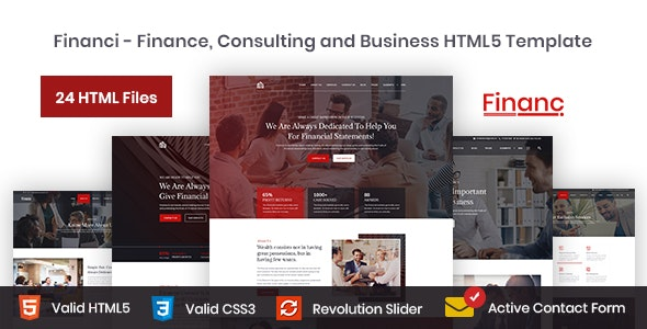 Financi - Finance, Consulting and Business HTML5 Template - Corporate Site Templates