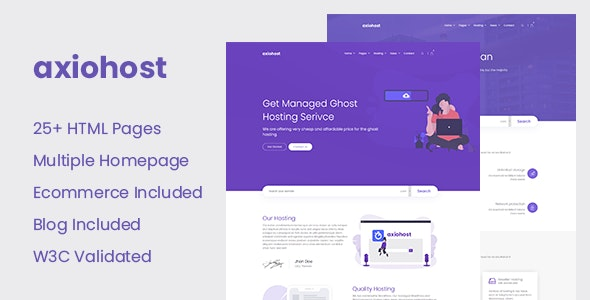 Axiohost - Modern Hosting HTML Site Template - Hosting Technology