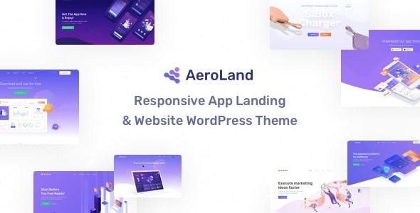 AeroLand - Responsive App Landing and Website WordPress Theme