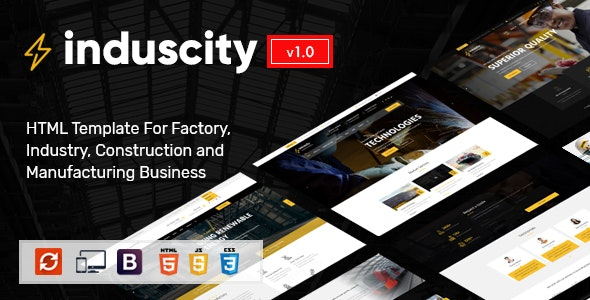 Induscity - Industry and Construction HTML Template - Business Corporate