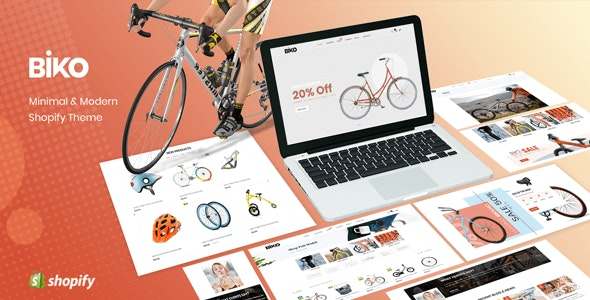 BIKO - Bicycle Store Responsive Shopify Theme Sections Ready - Shopify eCommerce