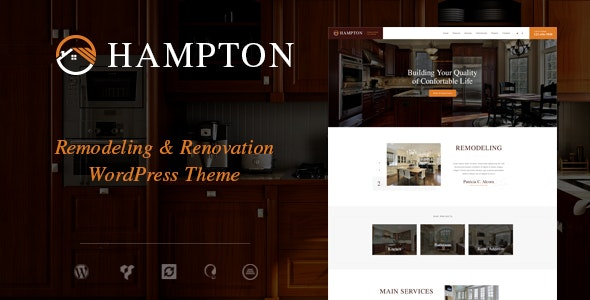 Hampton | Home Design and Renovation WordPress Theme - Business Corporate