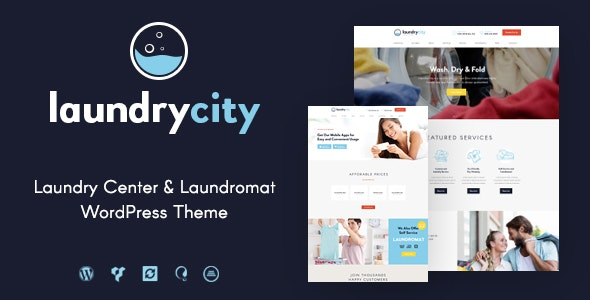 Laundry City | Dry Cleaning & Washing Services WordPress Theme - Business Corporate