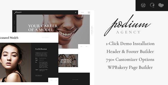 Podium   Model Agency WordPress Theme