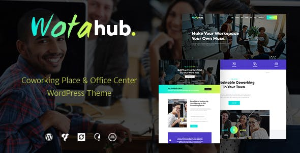 WotaHub | Coworking Space WordPress Theme