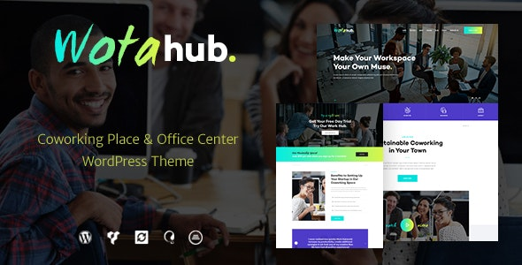 WotaHub | Coworking Space WordPress Theme - Business Corporate