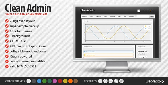 Clean & Simple Admin Template - Admin Templates Site Templates