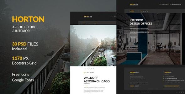 Horton   Architecture & Interior PSD Template - Portfolio Creative