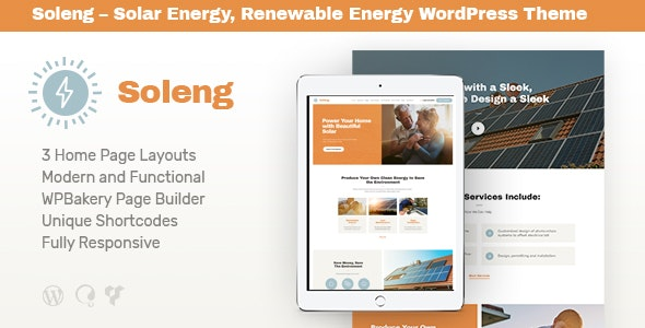 Soleng | A Solar Energy Company WordPress Theme - Retail WordPress