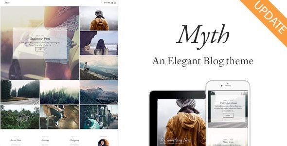 Myth - An Elegant Storytelling WordPress Blog Theme - Personal Blog / Magazine