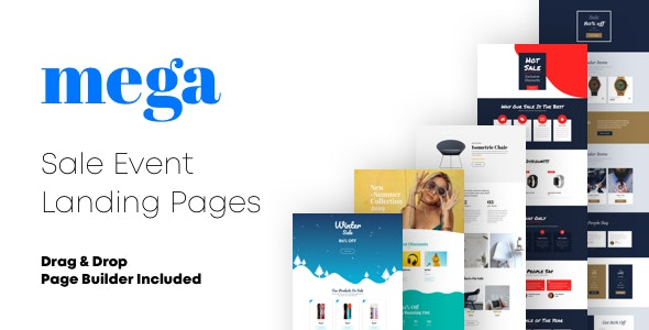 Mega - Sale Event Landing Pages with Page Builder - Landing Pages Marketing