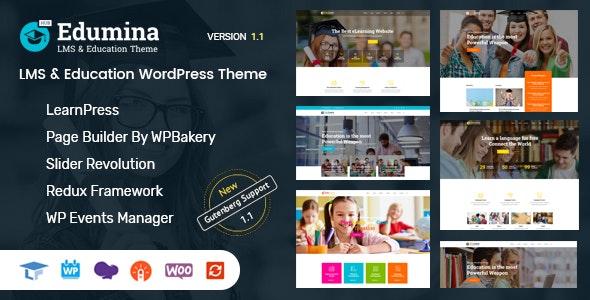 Edumina - LMS & Education WordPress Theme - Education WordPress