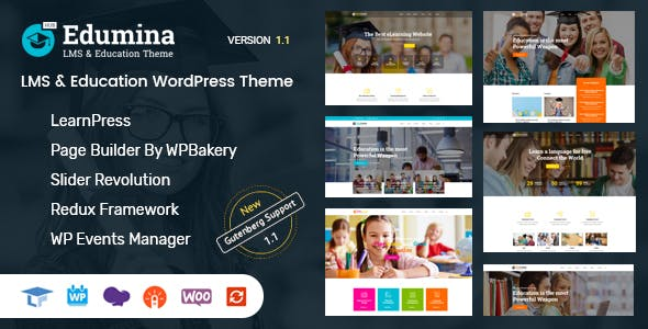 Edumina - LMS & Education WordPress Theme