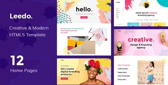 Leedo – Modern, Colorful & Creative Portfolio HTML5 Template - Portfolio Creative