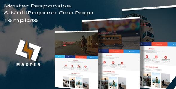 Master -  Responsive & MultiPurpose Onepage Templates - Site Templates