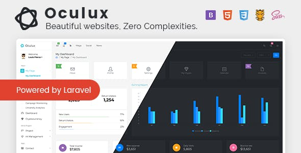 Laravel Project Website Templates From Themeforest