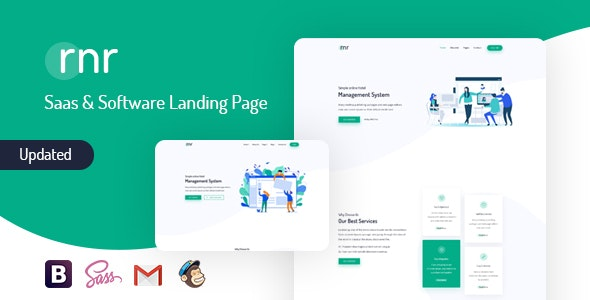 RNR - Sass & Software Landing Page Template - Software Technology