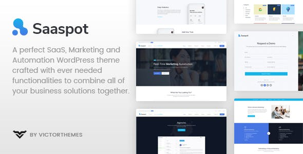 SaaSpot - SaaS Marketing Automation WordPress Theme