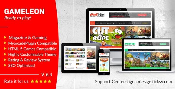 Gameleon - WordPress Arcade Theme & News Magazine - Entertainment WordPress