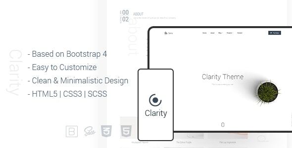 Clarity – Minimal & Creative Bootstrap 4 HTML Template - Art Creative