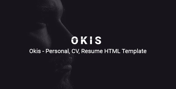 Okis - Personal CV Resume HTML Template - Virtual Business Card Personal