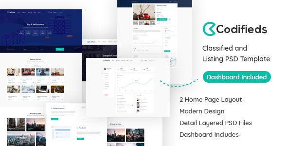 Codifieds - Classified Ads PSD Template - Marketing Corporate